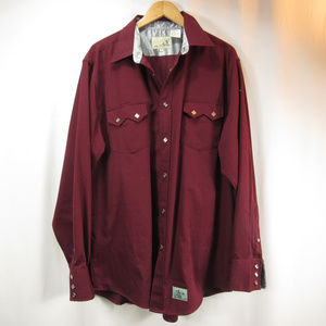 Roper Old Western Classic Red Snap Button Shirt XL